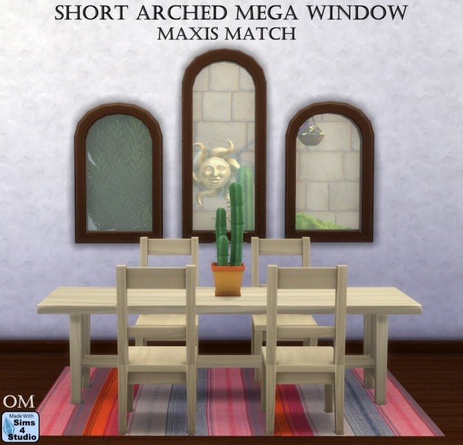 Short arched mega window by OM at Sims 4 Studio image 76 670x644 Sims 4 Updates