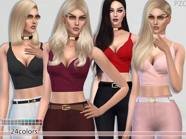 Elegant Cut Summer Top by Pinkzombiecupcakes at TSR image 770 Sims 4 Updates