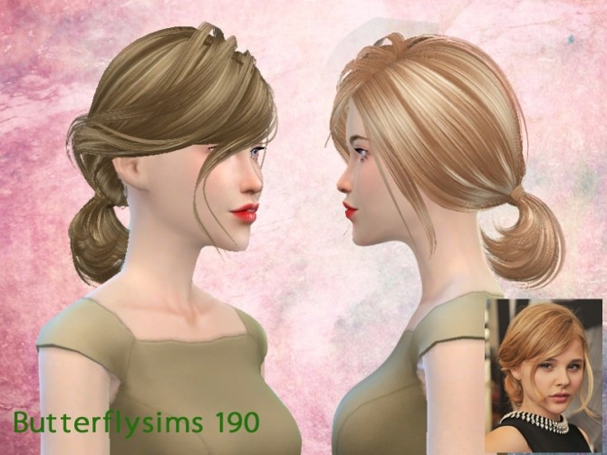 Hairstyles Updates: B-flysims Hair 190s By YOYO (Pay) At Butterfly Sims » Sims