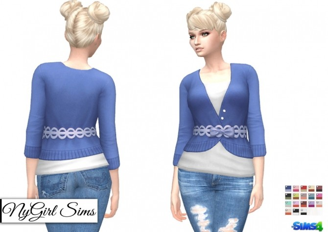 Sims 4 Dine Out Sweater Dress as Top at NyGirl Sims