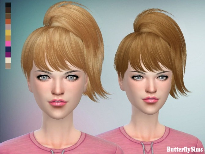 Sims 4 B flysims hair af 076 No hat by YOYO (Free) at Butterfly Sims