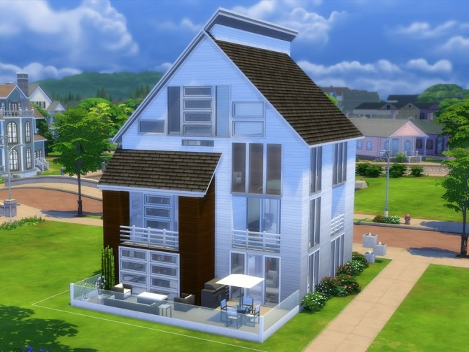Sims 4 Modern Muse house by Aibrean at Mod The Sims