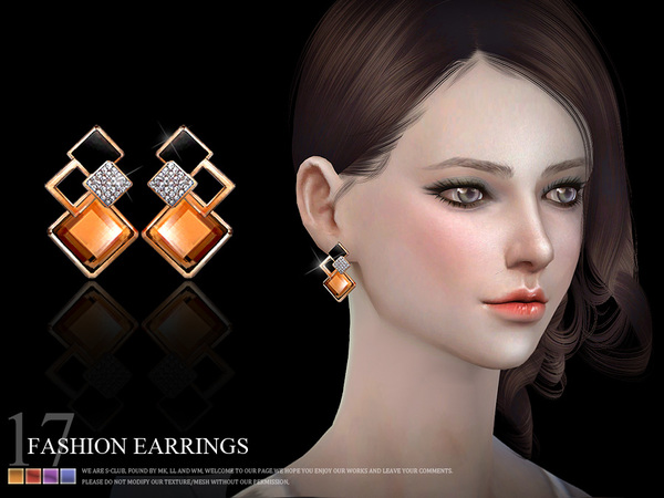 Earrings 18(f) by S Club LL at TSR image 820 Sims 4 Updates
