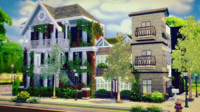 How To Build A Townhouse Part 2 At Sims4 Luxury 187 Sims 4