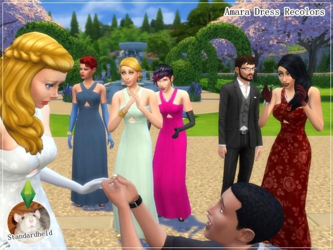 Sims 4 Amara Dress Recolors by Standardheld at SimsWorkshop