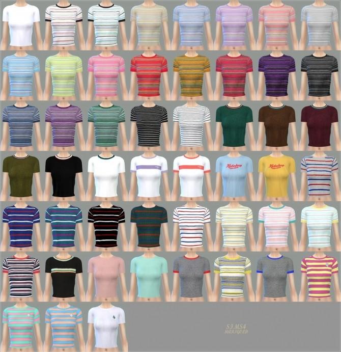 Sims 4 Tight Short Sleeve Top at Marigold
