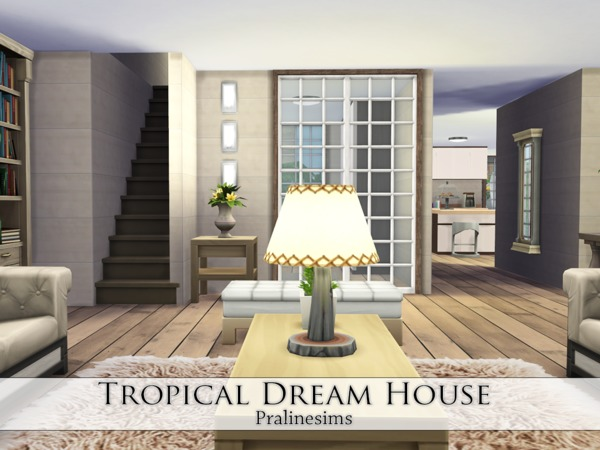 Sims 4 Tropical Dream House by Pralinesims at TSR