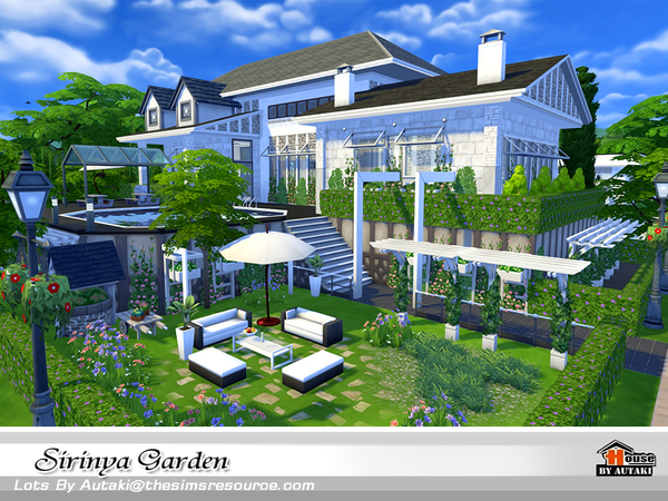 Sirinya garden by autaki at tsr sims 4 updates for Garden design sims 4