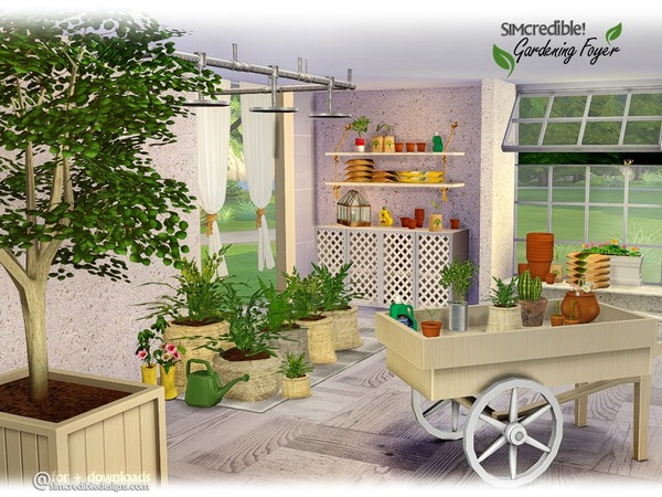 Sims 4 Gardening Foyer Plants by SIMcredible at TSR