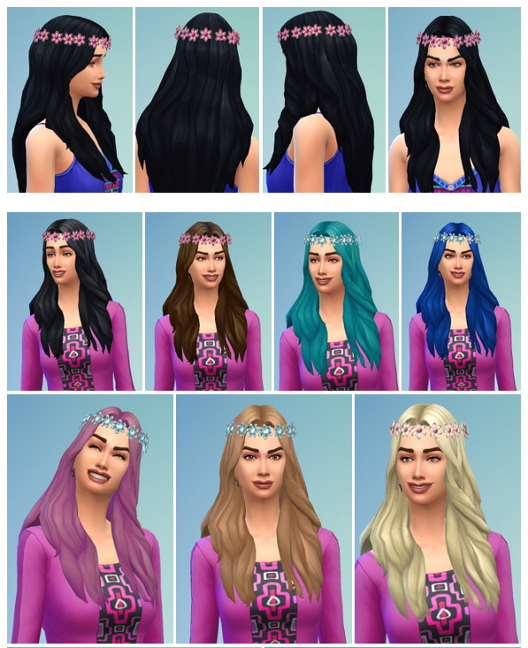 Sims 4 Flower Power Hair at Birksches Sims Blog