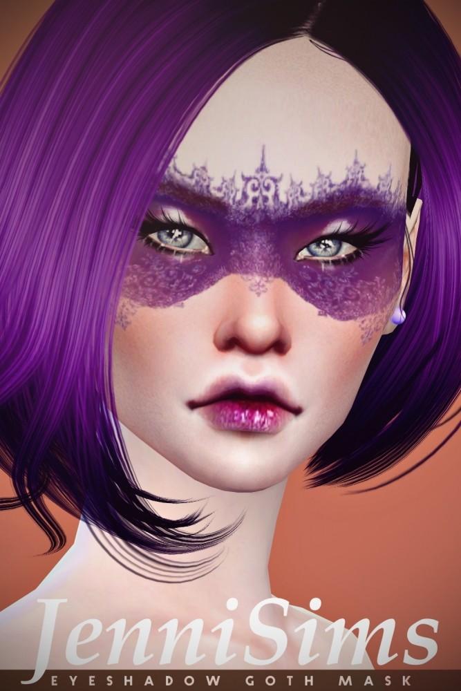EyeShadow Goth Mask at Jenni Sims image 8716 667x1000 Sims 4 Updates