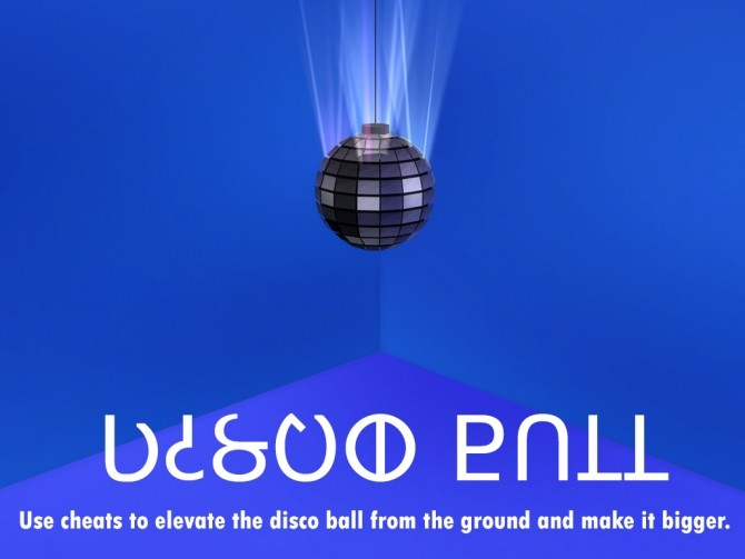 Sims 4 Discotheque mirrorball animated by eve28 at Mod The Sims