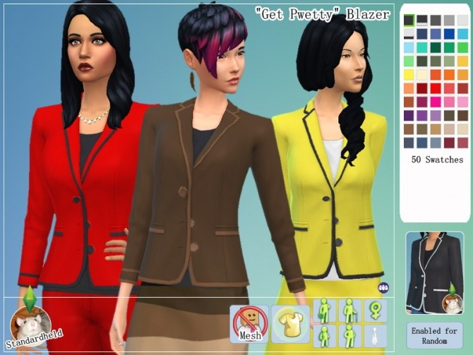 Sims 4 Get Pwetty Clothing Pack by Standardheld at SimsWorkshop