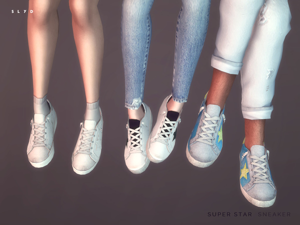 Pastry Shoes 2016 >> Super Star Sneakers by SLYD at TSR » Sims 4 Updates