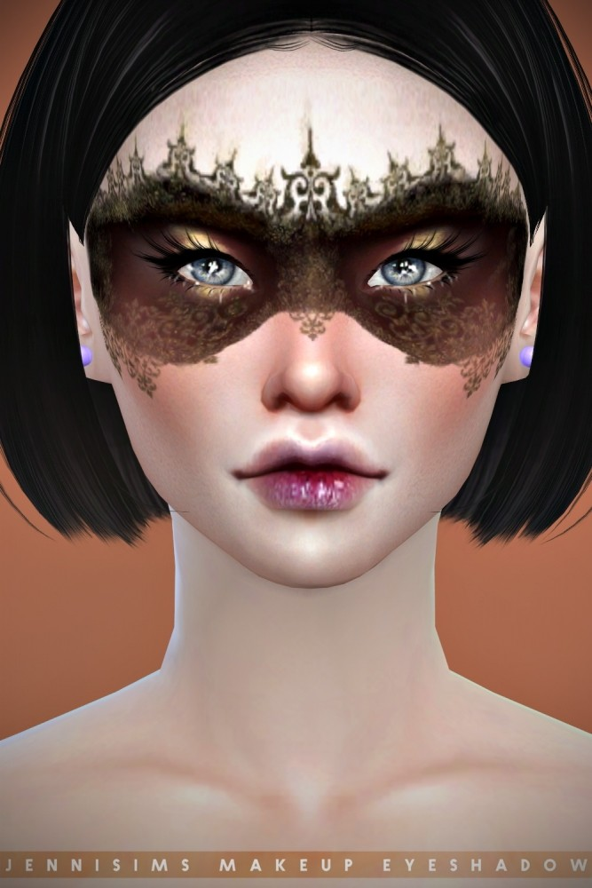 EyeShadow Goth Mask at Jenni Sims image 8916 667x1000 Sims 4 Updates