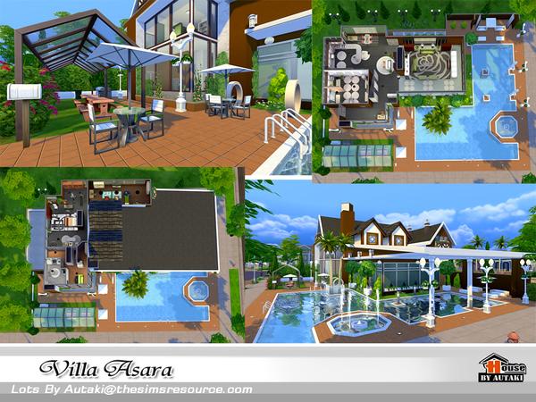Sims 4 Villa Asara by autaki at TSR