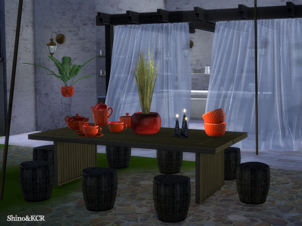 Sims 4 Garden 2016 Dining by ShinoKCR at TSR