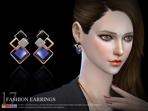 Earrings 18(f) by S Club LL at TSR image 919 Sims 4 Updates