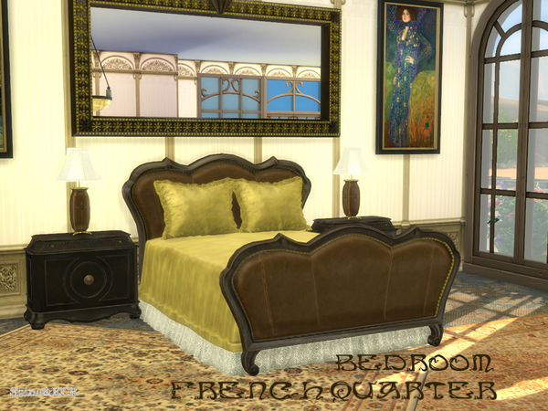 French Quarter Bedroom by ShinoKCR at TSR image 920 Sims 4 Updates