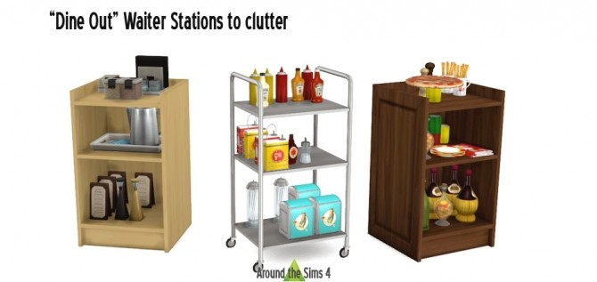 Sims 4 Dine Out Waiter Stations/Podiums at Around the Sims 4