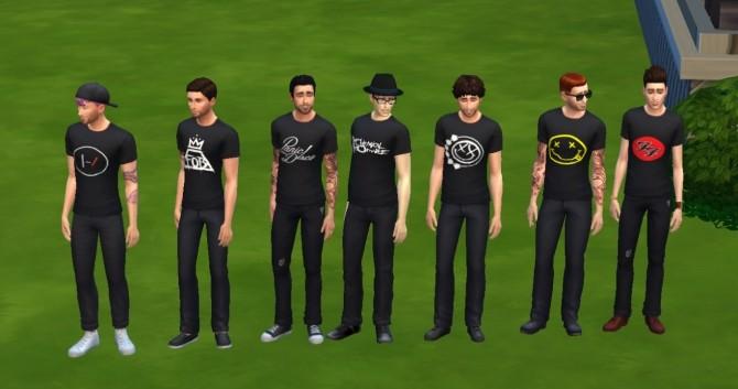 Band Shirts by KaraStars at Mod The Sims image 9311 670x353 Sims 4 Updates