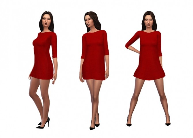 Amarylls Sweater Dress Recolors by deelitefulsimmer at SimsWorkshop image 9412 670x479 Sims 4 Updates