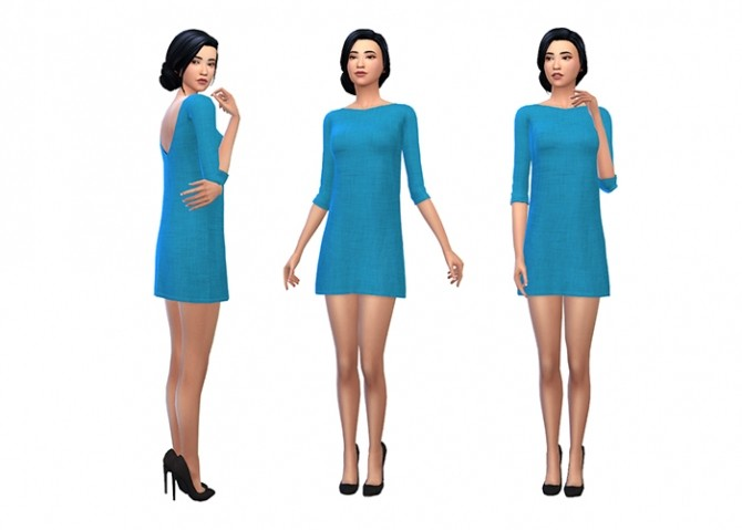 Amarylls Sweater Dress Recolors by deelitefulsimmer at SimsWorkshop image 9512 670x479 Sims 4 Updates