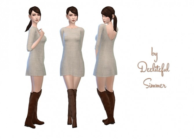 Sims 4 Amarylls Sweater Dress Recolors by deelitefulsimmer at SimsWorkshop