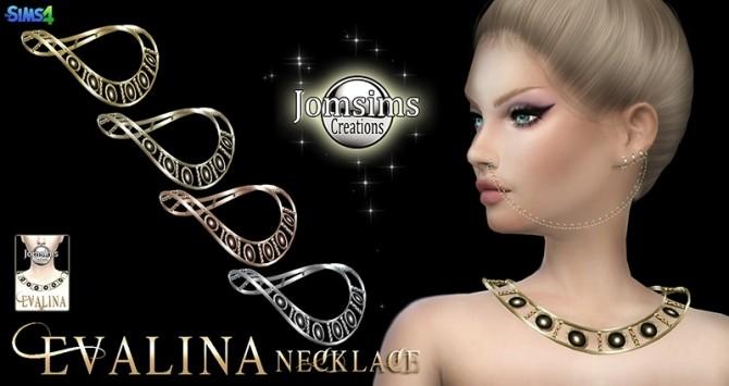 Sims 4 Evalina necklace at Jomsims Creations