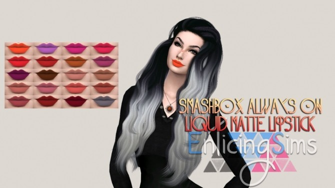Sims 4 Liquid Matte Lipstick by EnticingSims at SimsWorkshop