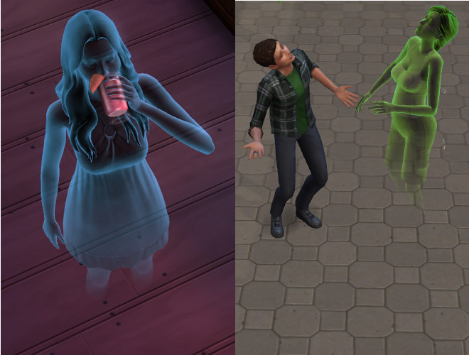 Sims 4 Ghosts No Puddles by Shimrod101 at Mod The Sims