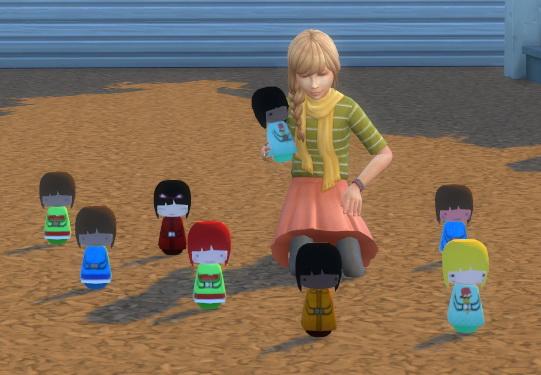 Princess Bliss Kawaii Kokeshi Doll by BigUglyHag at SimsWorkshop image 9812 Sims 4 Updates