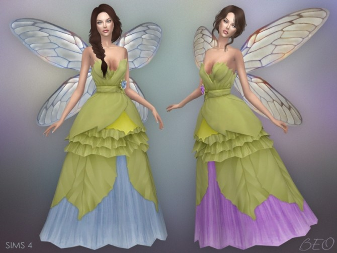 Sims 4 WEDDING DRESS FAIRY at BEO Creations