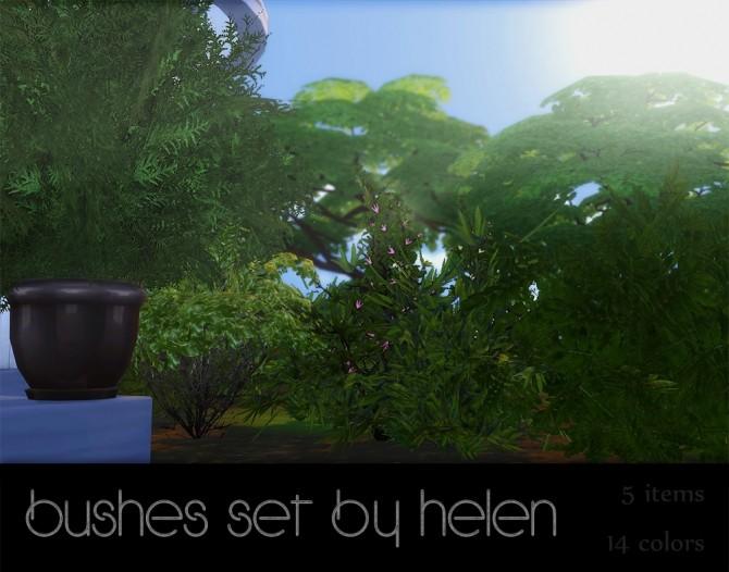 Sims 4 Bushes set at Helen Sims