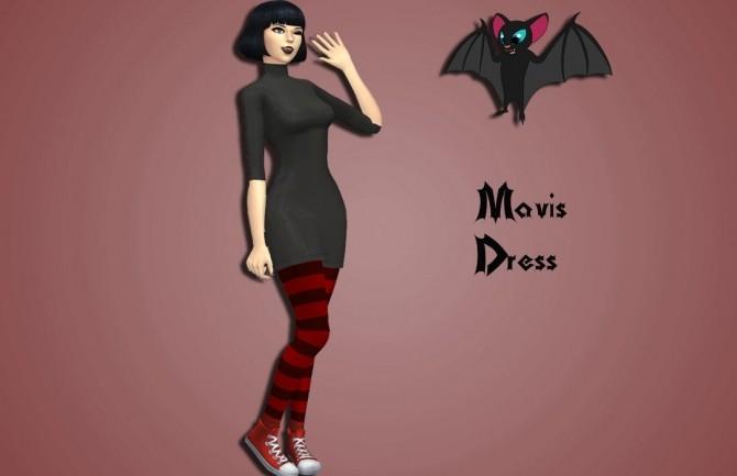 Sims 4 Mavis Dress by Annabellee25 at SimsWorkshop