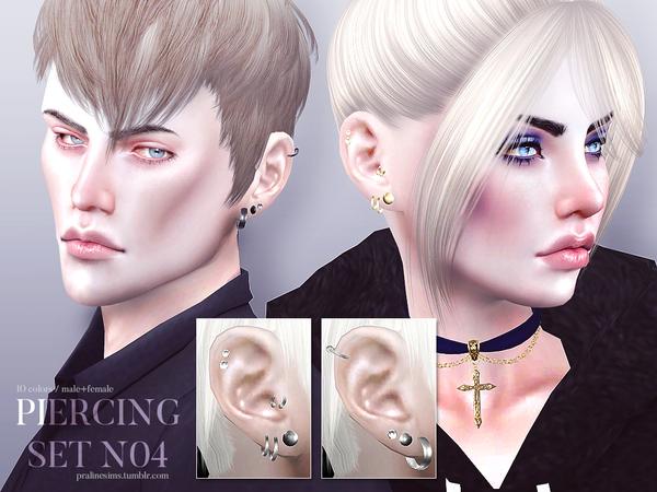 Sims 4 Piercing Set N04 by Pralinesims at TSR