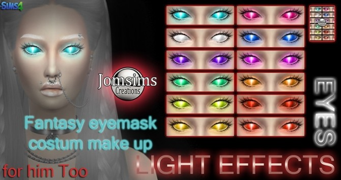 Light effect eyes mask at Jomsims Creations image 10314 670x355 Sims 4 Updates