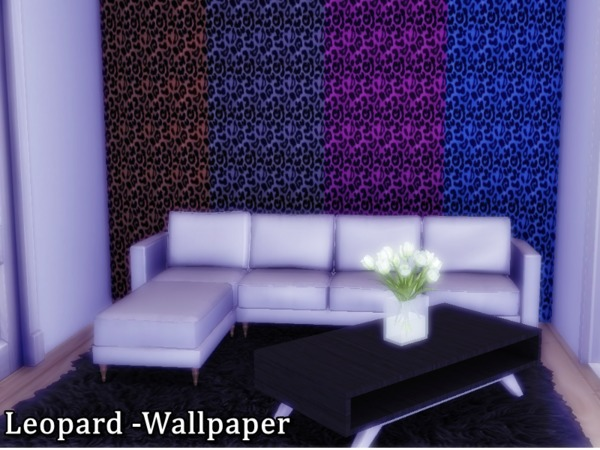 Sims 4 Leopard Wallpaper by Naddiswelt at TSR