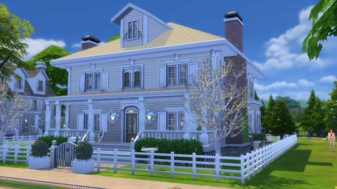 Sims 4 The Hillrose house by pollycranopolis at Mod The Sims