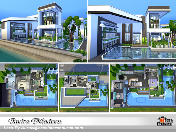 Sims 4 Jarita Modern house by autaki at TSR