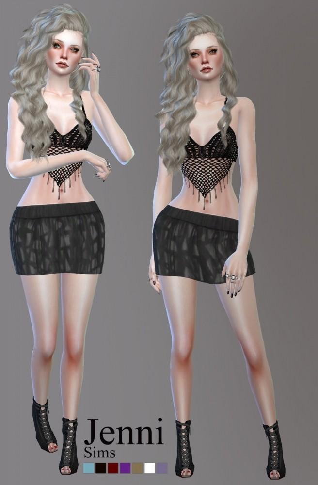 Sims 4 Dress and Skirt Summer Days at Jenni Sims