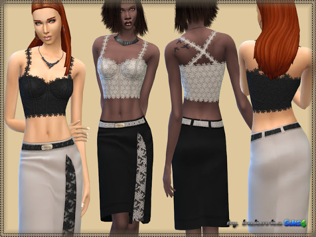 Sims 4 Set lace at Bukovka