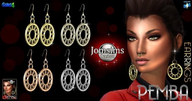Sims 4 Pemba Earrings at Jomsims Creations