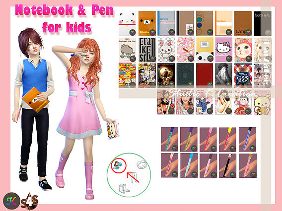 Sims 4 Pen & notebook for kids at Studio K Creation