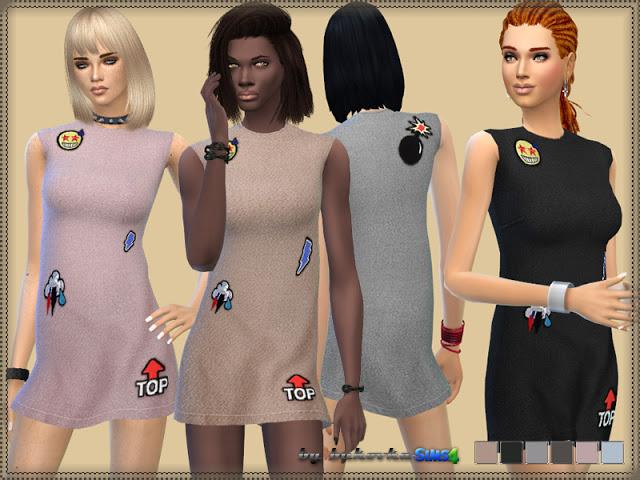 Sims 4 Iceberg dress at Bukovka