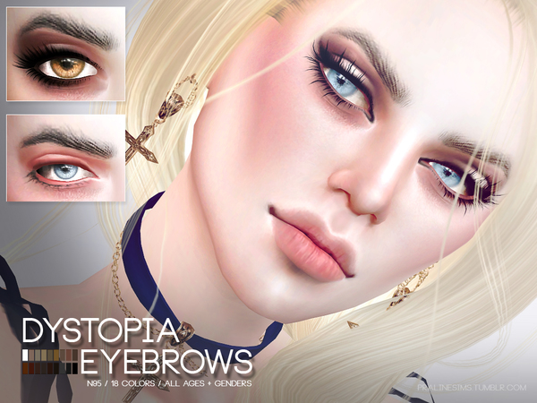 Dystopia Eyebrows N95 by Pralinesims at TSR image 1100 Sims 4 Updates