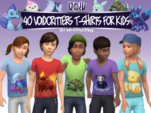 40 Void creatures T shirts for kids by Waterwoman at Akisima image 11011 Sims 4 Updates