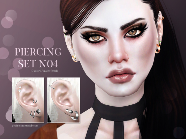 Piercing Set N04 by Pralinesims at TSR image 1115 Sims 4 Updates