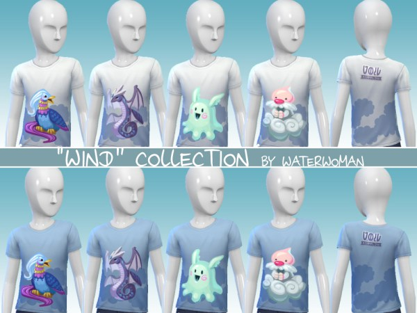 40 Void creatures T shirts for kids by Waterwoman at Akisima image 11210 Sims 4 Updates