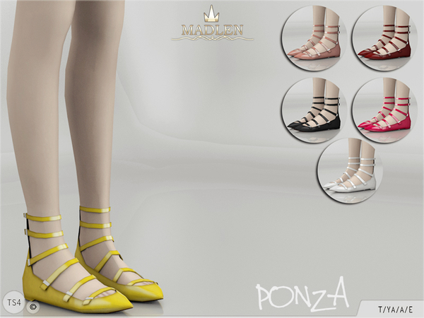 Sims 4 Madlen Ponza Shoes by MJ95 at TSR